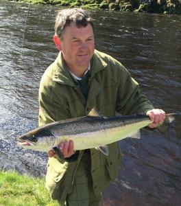 Ian with Mrs O Brien's fish